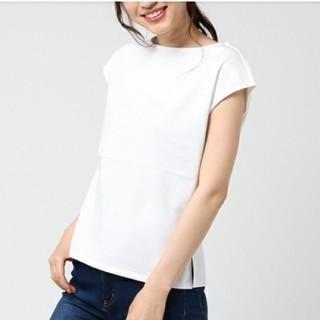 デミルクスビームス(Demi-Luxe BEAMS)のデミルクスビームス Tシャツ ボートネック BEAMS 白T(Tシャツ(半袖/袖なし))