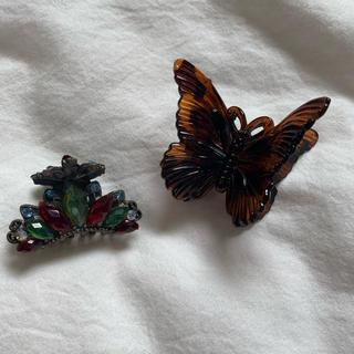 Grimoire - バレッタ バンスクリップ ヘアクリップ ヴィンテージ ビンテージ  蝶々