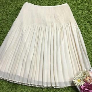 アマカ(AMACA)のアマカAMACA レディプリーツスカート(ひざ丈スカート)