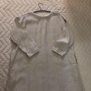 nest Robe - nest robe/ 襟袖可愛い…linen one piece 羽織り
