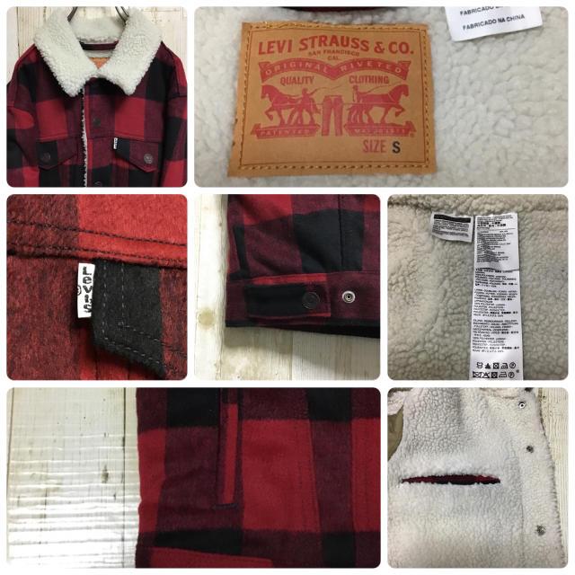 Levi's(リーバイス)の【リーバイス】【黒×赤】【ブロックチェック】【内ボアジャケット/ブルゾン】 メンズのジャケット/アウター(ブルゾン)の商品写真
