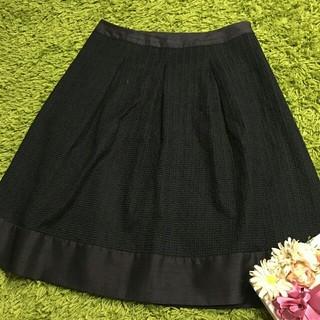 アマカ(AMACA)のアマカAMACA レディベーシックスカート黒(ひざ丈スカート)