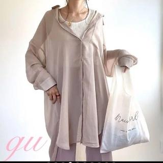 GU - GUシアーロングシャツベージュ