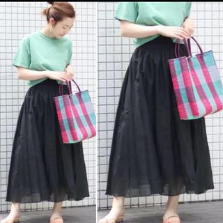 イエナスローブ(IENA SLOBE)の2018ss コットンシルクギャザースカート(ロングスカート)