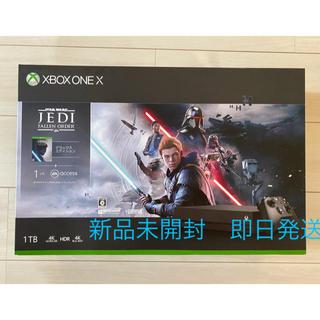 エックスボックス(Xbox)のxbox one X Star Wars ジェダイ・フォールン・オーダー同梱版(家庭用ゲーム機本体)