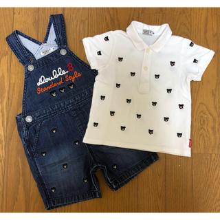 mikihouse - ダブルビー プチベア ポロシャツ、プチベア ショートオール(90)