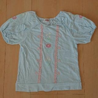 スーリー(Souris)のsouris スーリー 半袖  Tシャツ 水色 140(Tシャツ/カットソー)