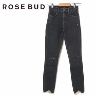ローズバッド(ROSE BUD)の定価28,600円【新品】ROSE BUD ブラックスキニーパンツ(デニム/ジーンズ)