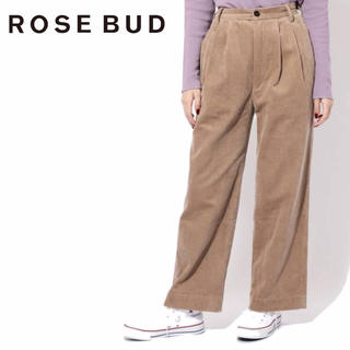 ローズバッド(ROSE BUD)の定価13,200円【新品】ROSE BUD コーデュロイタックパンツ(カジュアルパンツ)