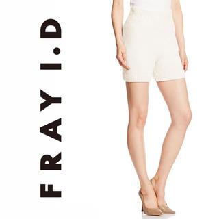 フレイアイディー(FRAY I.D)の定価13,200円【新品】FRAY I.D ニットショートパンツ グレー(ショートパンツ)