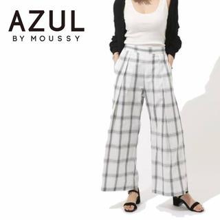 アズールバイマウジー(AZUL by moussy)の【新品】AZUL BY MOUSSY ワイドチェックイージーパンツ(カジュアルパンツ)