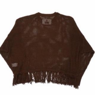 Jieda - DAIRIKU/Pullover Fringe Net Knit(ブラウン)