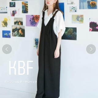 KBF - KBF テープショルダーサロペット ブラック