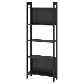 イケア(IKEA)のLAIVA ライヴァ 本棚, ブラックブラウン, 62x165 cm(本収納)