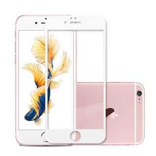 iPhone6Plus/6s Plus ホワイト 液晶強化ガラス保護フィルム P(モバイルケース/カバー)