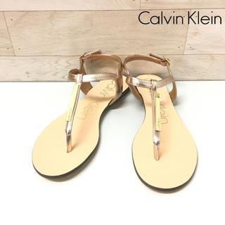 Calvin Klein - 【Calvin Klein】サンダル ゴールド ブロンズ ローヒール