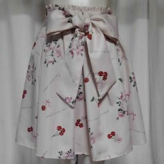 Ank Rouge - アンクルージュ  チェリーと薔薇フレアースカート  新品未使用