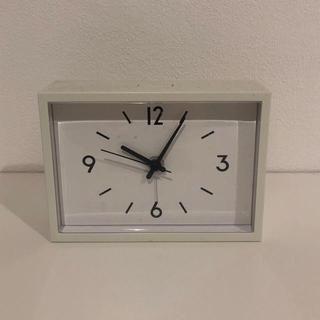 MUJI (無印良品) - 無印良品 置き時計掛け時計 見やすい時計