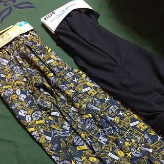 シマムラ(しまむら)のメンズ 紳士 ステテコ 2枚セット 黒&柄物 M  サラサラDRY(その他)