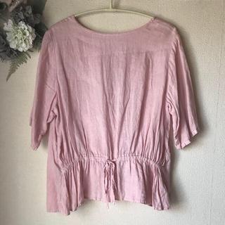 nest Robe - ネストローブ⭐️リネン2wayギャザーブラウス ピンク