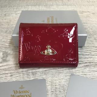 Vivienne Westwood - Vivienne Westwood◆ ミニ財布 エナメル 三つ折り財布 レッド