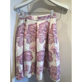 クイーンズコート(QUEENS COURT)のクイーンズコート  ジャガード スカート(ひざ丈スカート)