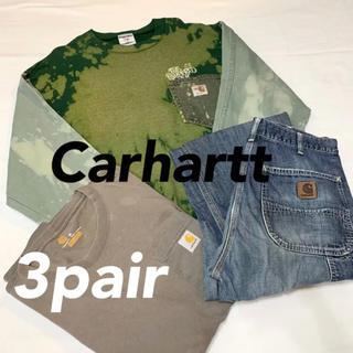 carhartt - 早い者勝ち!!カーハート 3点セット Tシャツ トレーナー デニム