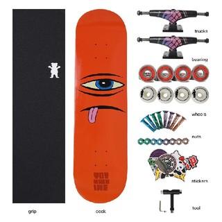 スケートボード31 x 8インチ標準スケートボードセット(スケートボード)