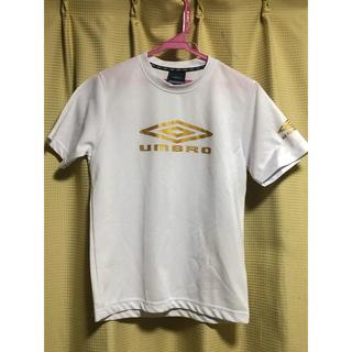 アンブロ(UMBRO)のアンブロ 半袖Tシャツ 白/金 150cm(Tシャツ/カットソー)