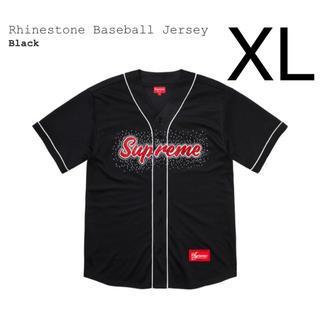 シュプリーム(Supreme)の希少 XL supreme rhinestone baseball jersey(その他)