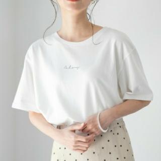 LOWRYS FARM - ローリーズファーム アサレーヨンマーメイドスカート ブラックドット+Tシャツ