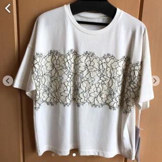 グレースコンチネンタル(GRACE CONTINENTAL)のグレースコンチネンタルリバーレースTシャツ(Tシャツ/カットソー(半袖/袖なし))