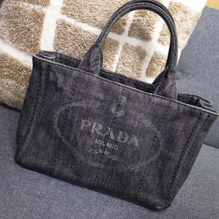 PRADA - 正規品☆プラダ カナパトート カナパ グレー デニム バッグ 財布 小物