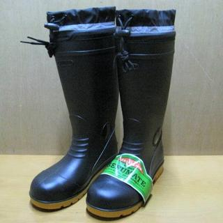 F-9665 PVC安全ブーツ 黒 25.0・26.5 各1足(長靴/レインシューズ)