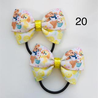 ディズニー(Disney)のハンドメイドリボン ヘアゴム ディズニー クッキーアン&お花 春(ヘアアクセサリー)