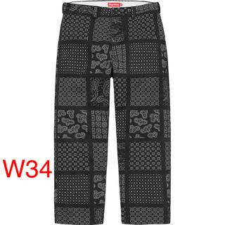 シュプリーム(Supreme)のSupreme Paisley Grid Chino Pant Black 34(チノパン)