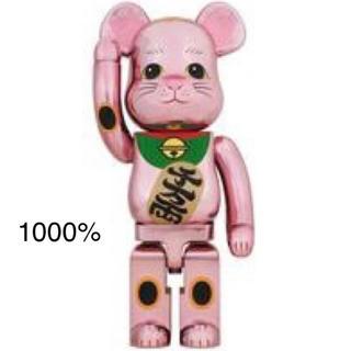 メディコムトイ(MEDICOM TOY)の新品 Be@rbrick 招き猫 桃金メッキ 1000% (その他)