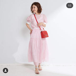 Drawer - obli ギンガムチェックスカート ピンク