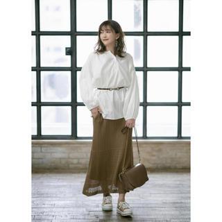 シマムラ(しまむら)のプチプラのあや PA12GAラインニット88(ロングスカート)