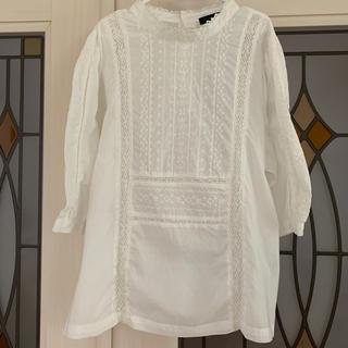 ネストローブ(nest Robe)のw closet コットン刺繍5部袖ブラウス(着用1回)☆(シャツ/ブラウス(長袖/七分))