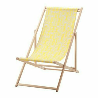 イケア(IKEA)のIKEA ビーチチェア 未使用 布2枚付き(折り畳みイス)