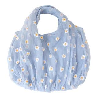 merry jenny - ✿ Daisy organdy tote bag .  BLUE 🥣