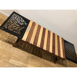 ヒルバーグ(HILLEBERG)のブラックデザインテーブルセット(アウトドアテーブル)