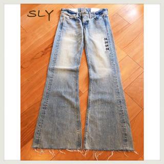 SLY - SLY デニムワイドパンツ