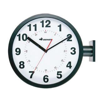 ダルトン ダブルフェイスウォールクロック 黒(掛時計/柱時計)