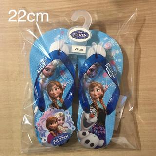 ディズニー(Disney)の⑤ アナと雪の女王   青バージョン ビーチサンダル  サイズ 22cm(サンダル)