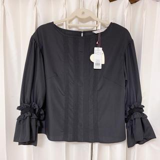 トランテアンソンドゥモード(31 Sons de mode)のトランテアンソンドゥモード 袖フリルピンタックブラウス(シャツ/ブラウス(長袖/七分))