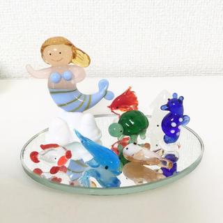 ガラス細工 マーメイドと海の生物 8コセット(ガラス)