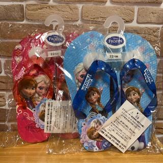 ディズニー(Disney)の⑦ アナと雪の女王   赤バージョン ビーチサンダル  サイズ 22cm(サンダル)