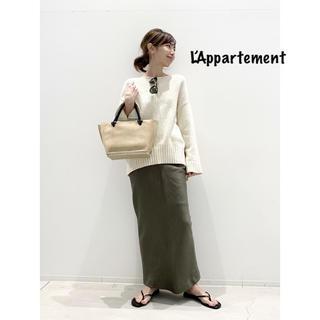 L'Appartement DEUXIEME CLASSE - L'Appartement◆ CTN FLARE S/L KNIT ホワイト
